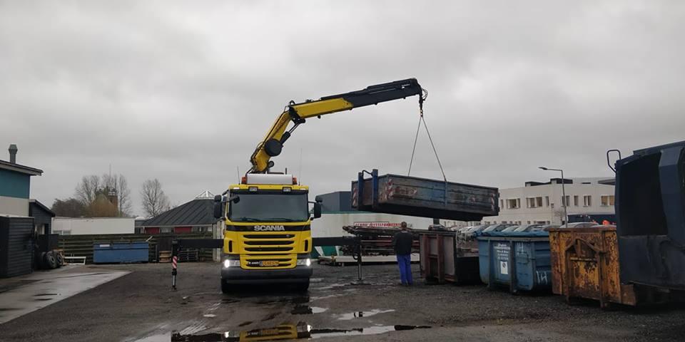 Vores nye lastbil, dette er et nyt område vi er startet med i 2019, dette er for at gøre vores arbejde nemmere i andre sammenhæng.